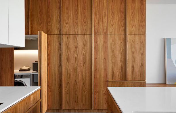 Kitchen furniture design in Chamfer House by Ha Architecture