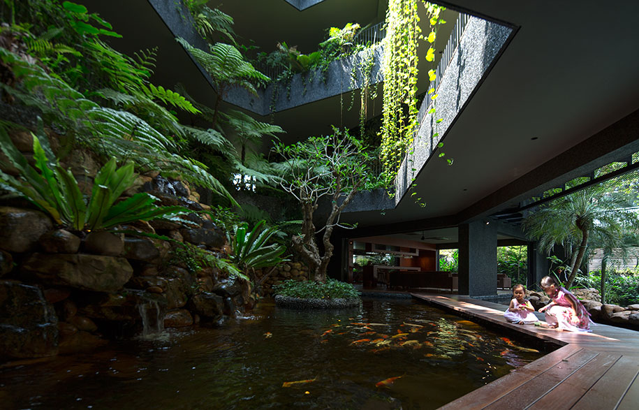 Chang Architects Cornwall Gardens koi pond