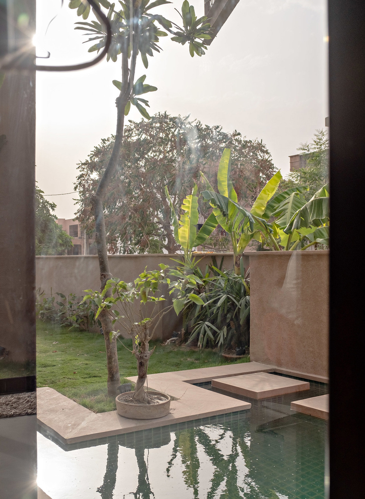 Chavvi House Vastu Shastra Abraham John Architects pool view