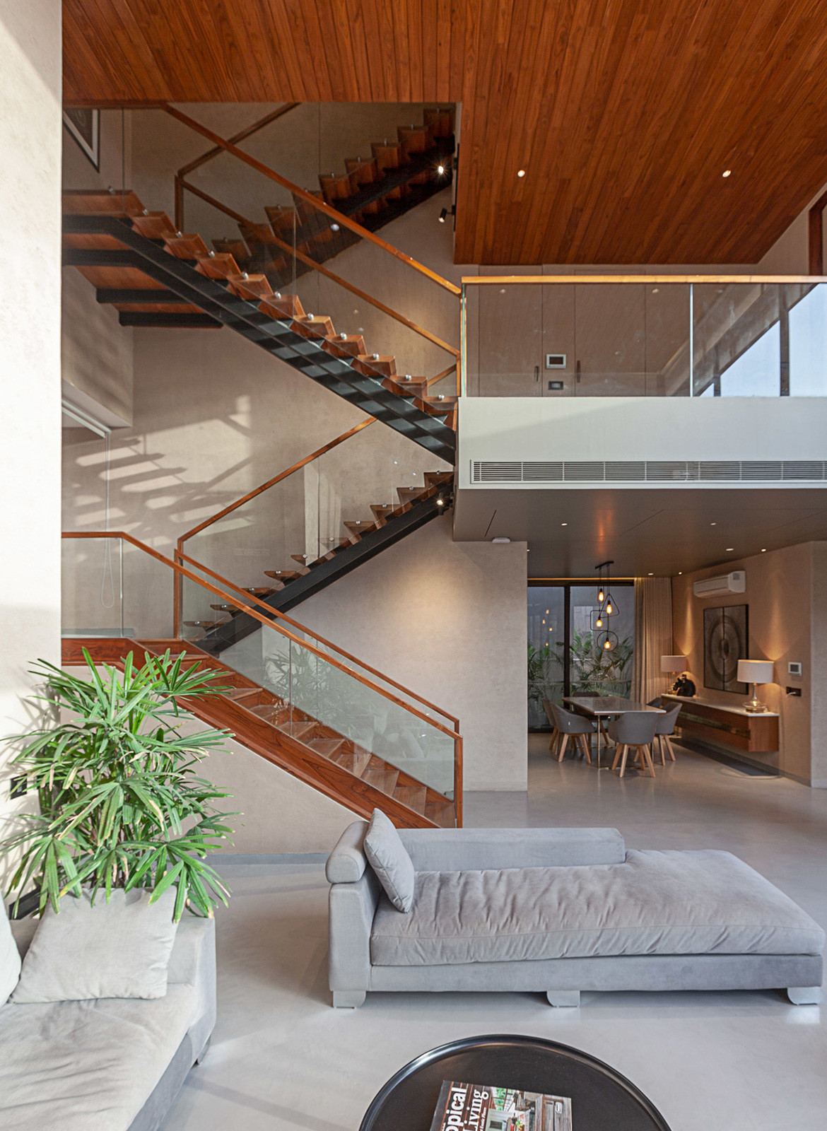 Chavvi House Vastu Shastra Abraham John Architects living space stairs
