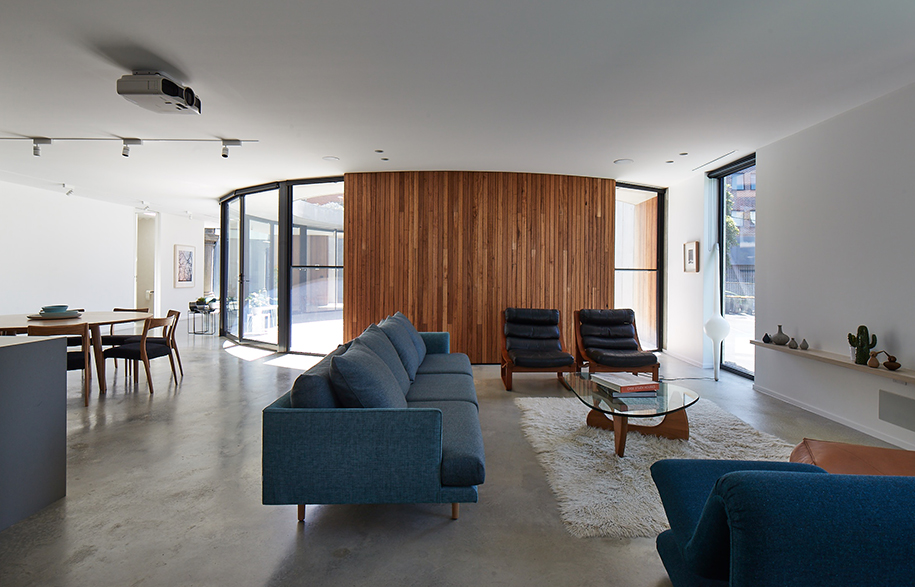 Church Conversion Kister Architects living room