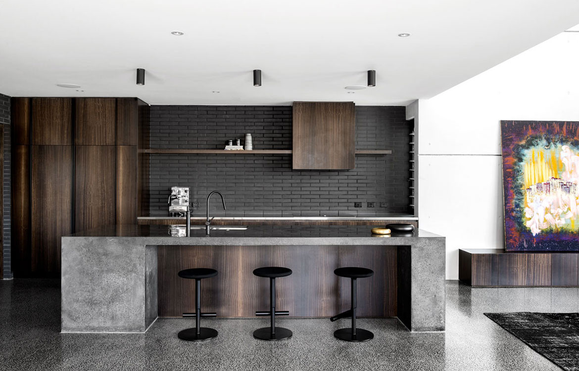 Church House DAH Architecture cc Cathy Schusler kitchen island bench