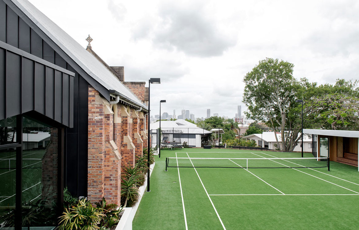 Church House DAH Architecture cc Cathy Schusler tennis court