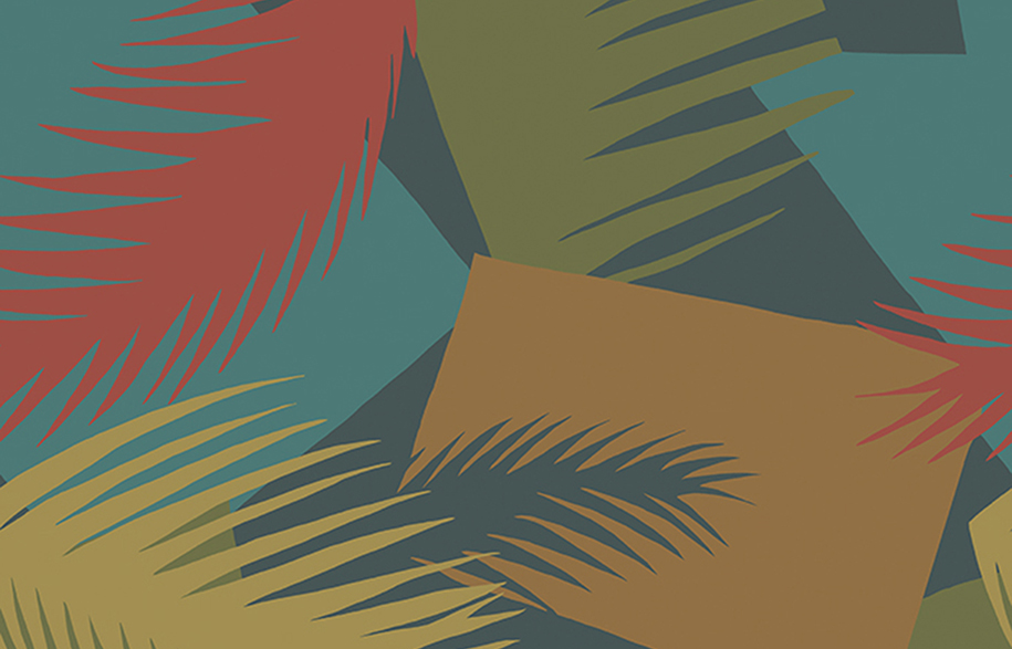 Cole & Son - Geometric II - Deco Palm 105-8039 RGB LR