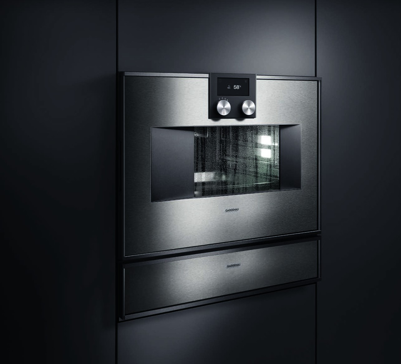 gaggenau combisteam oven with vacuum drawer. Black Bedroom Furniture Sets. Home Design Ideas
