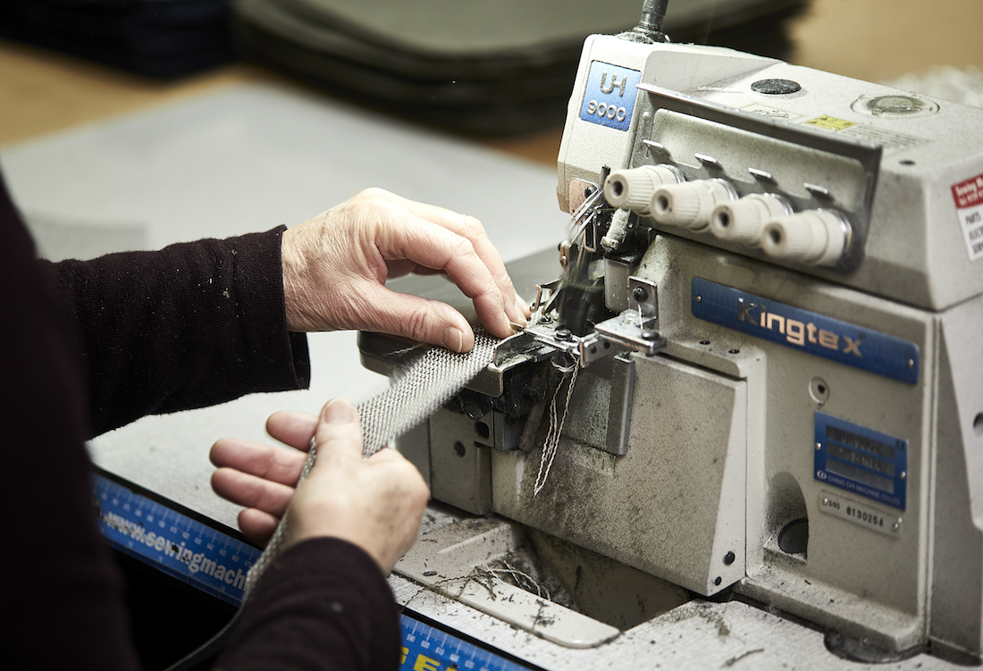 Local makers sew parts of the Kett designs.