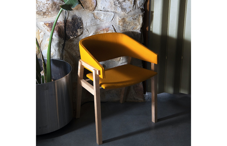 Cusp Yellow Chair