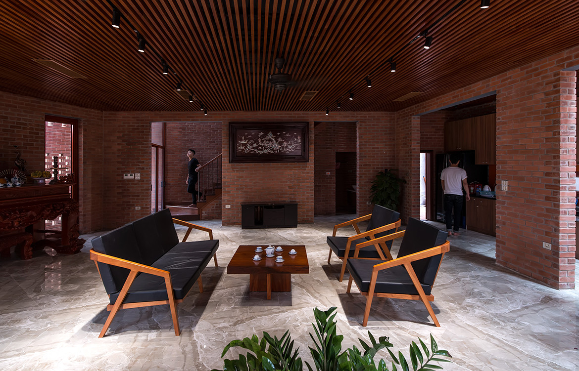 Brick Cave H&P Architects Nguyen Tien Thanh living
