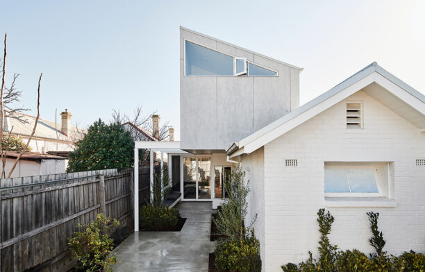 Dan Gayfer integrates a 125-year-old former dairy at the rear of his clients' Footscray property into their home's new extension.