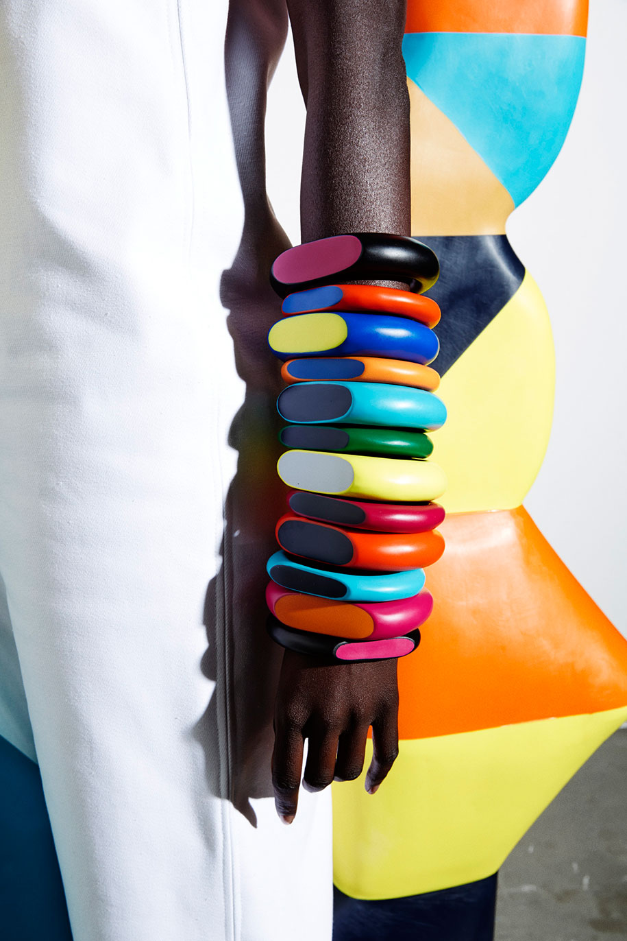 Dinosaur-Designs_Colour-Block_Jewellery_Coloured-Bangle-Stack