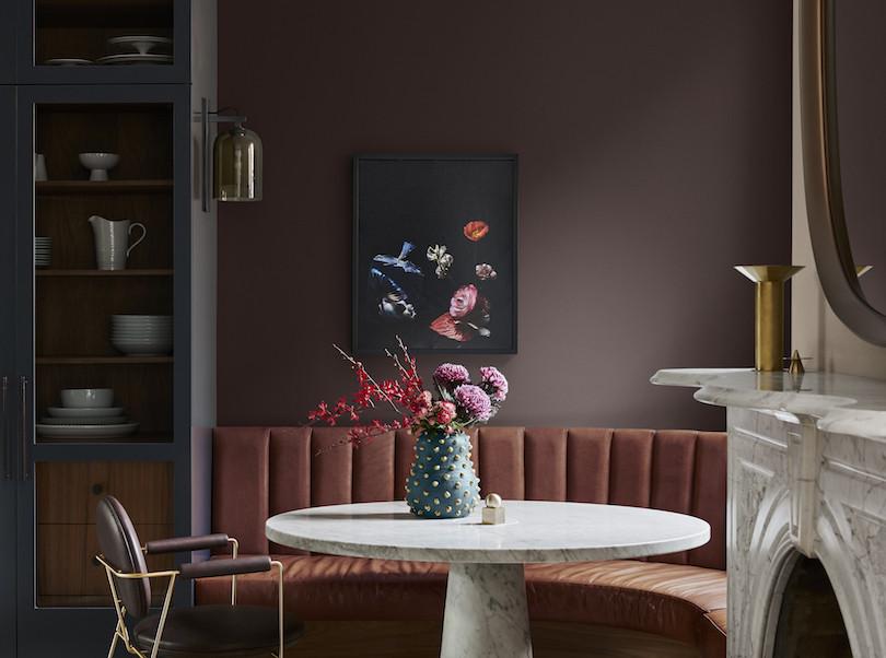 The rich tones of the Dulux Colour Forecast Flourish palette
