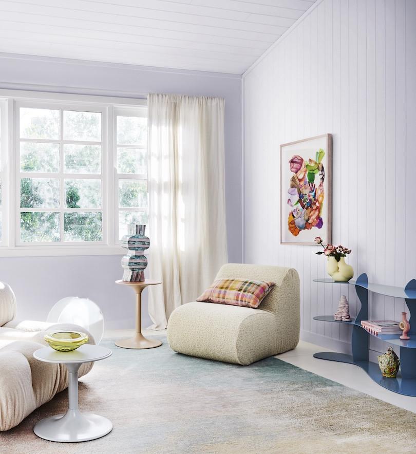 Pastels and playful accessories determine the Dulux Colour Forecast Wonder palette.