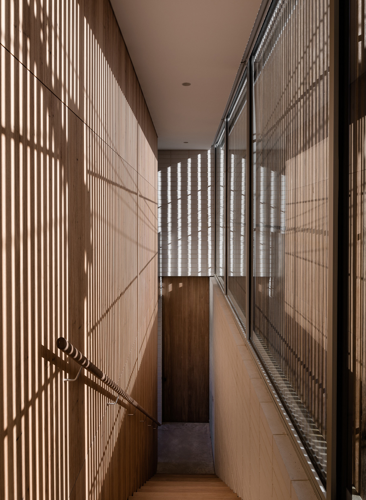 Edsall Street Ritz&Ghougassian CC Tom Blachford staircase natural light timber battens