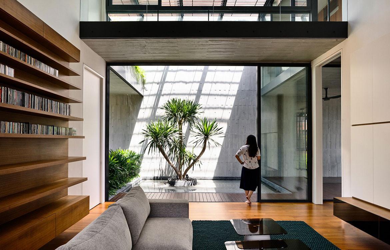 Faber Drive House HYLA Architects cc Derek Swalwell library
