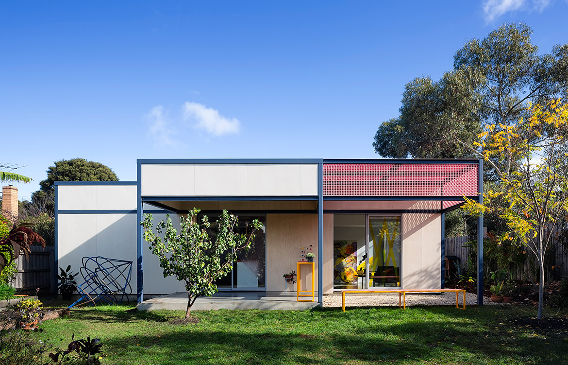 Family Framework House Sibling Architecture cc Christine Francis elevation
