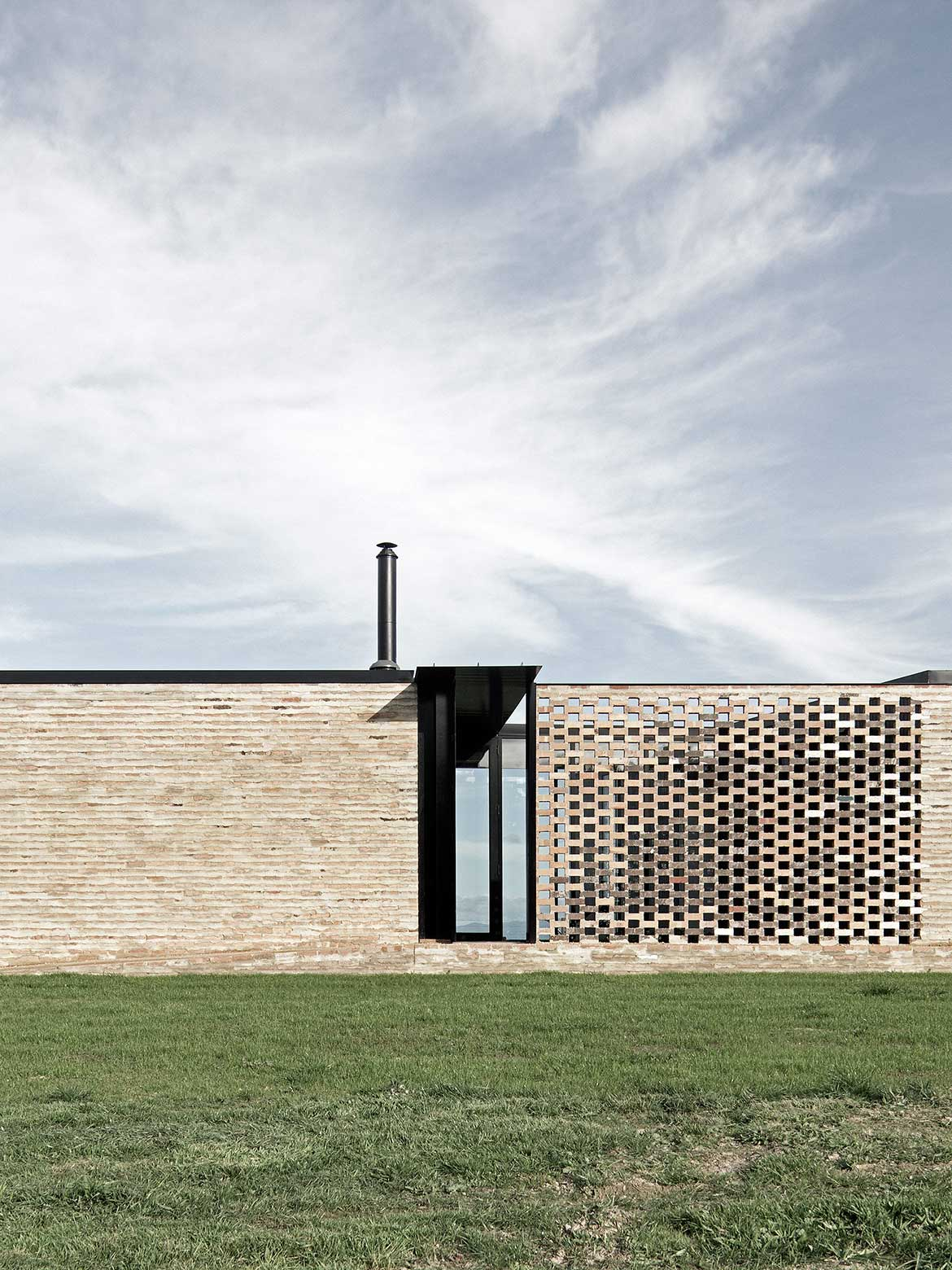 Fish Creek House Edition Office brickwork