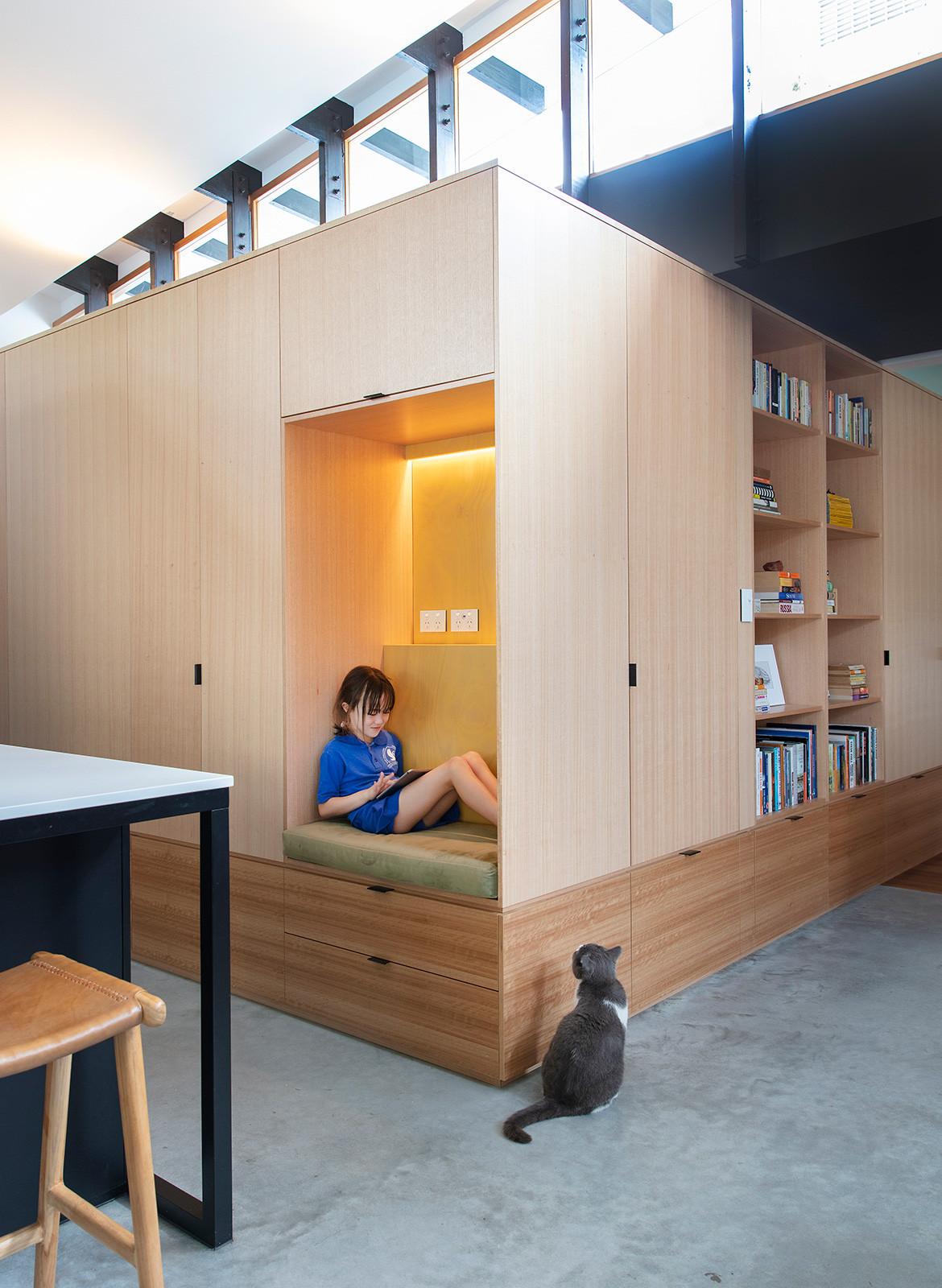Forrest Street Philip Stejskal Architecture CC Bo Wong reading corner