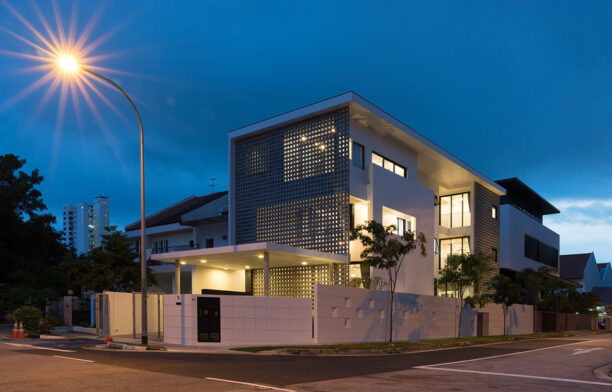 Frame House Red Bean Architects streetscape