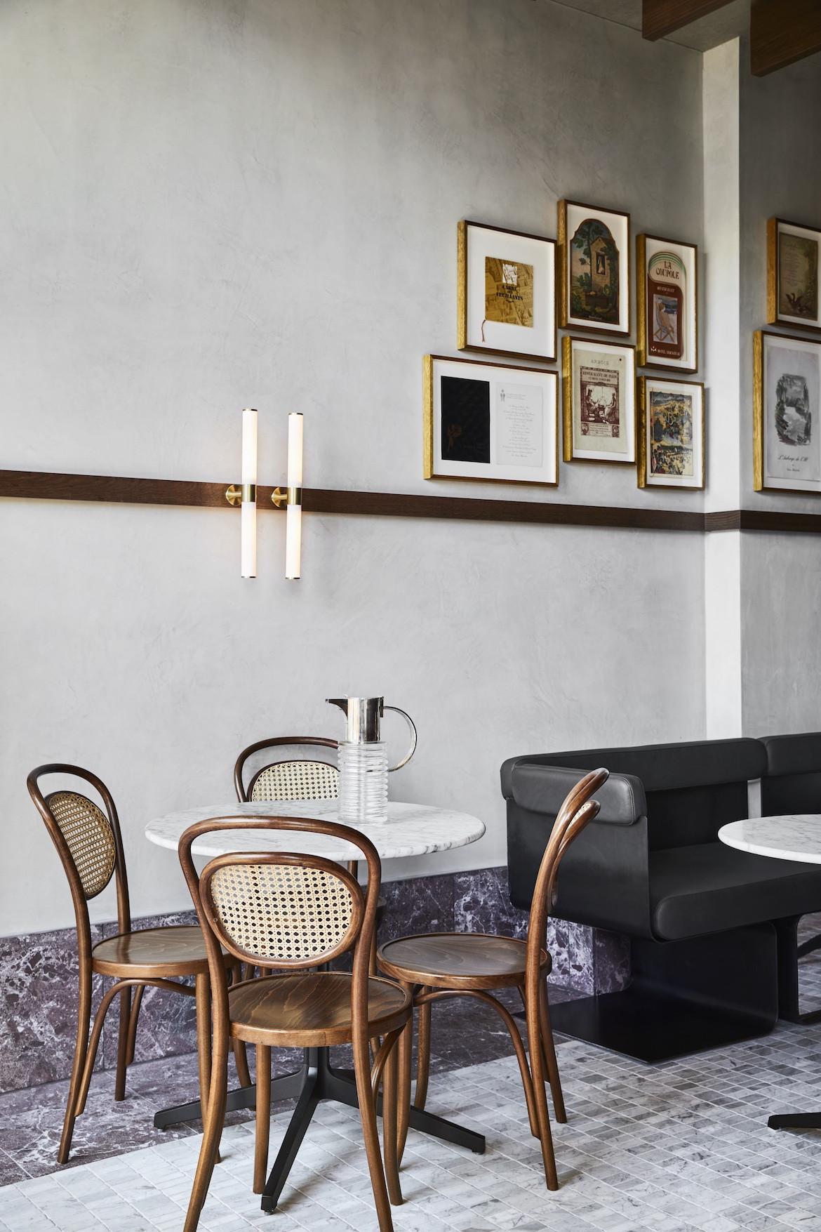 Small table in Frederic Bistro by Léo Terrando