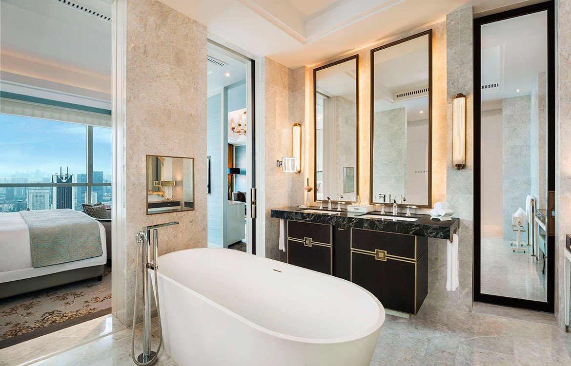 G.A Design St Regis Hotel bathroom