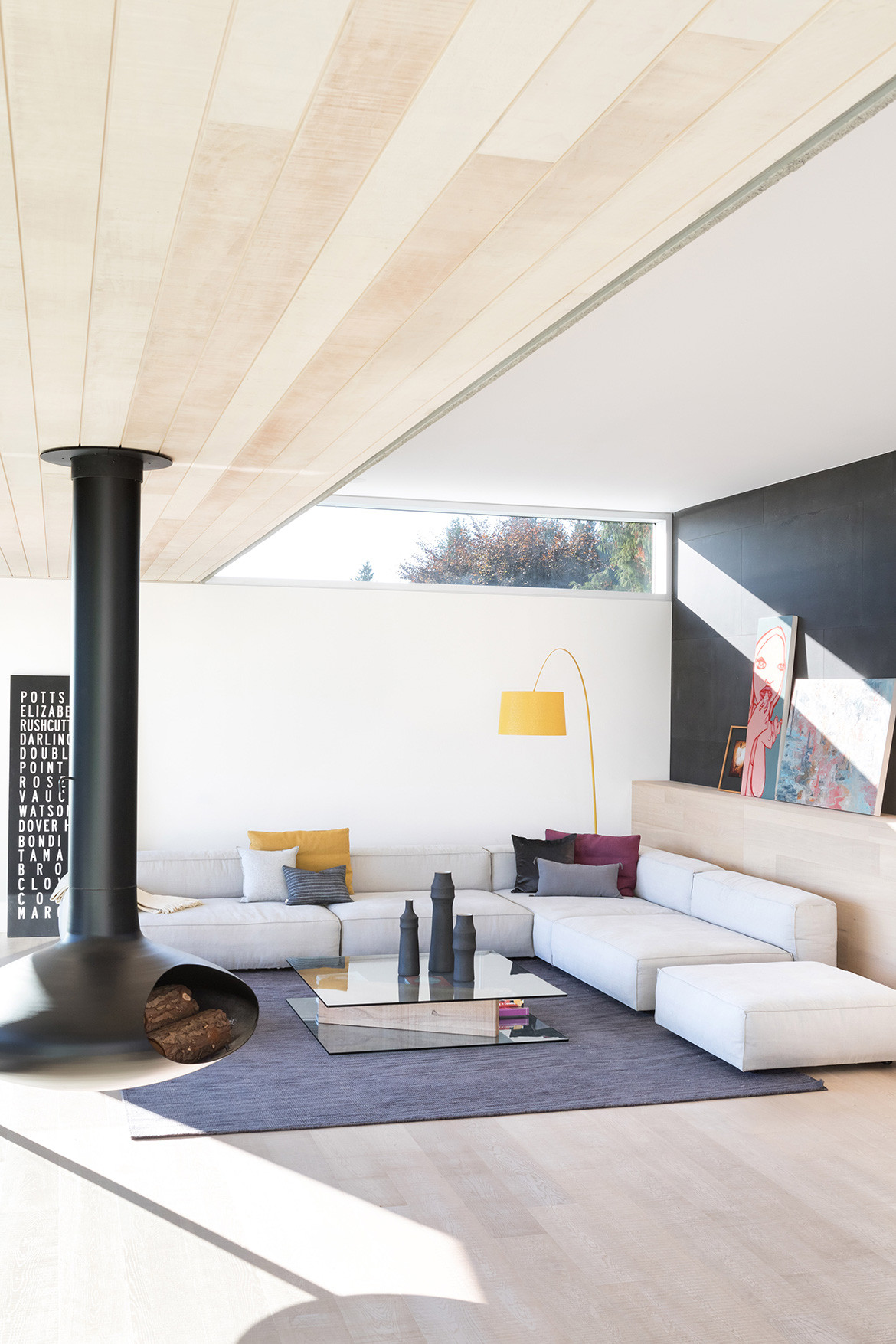 GDay House Mcleod Bovell Modern Houses cc Ema Peter living space and fire place