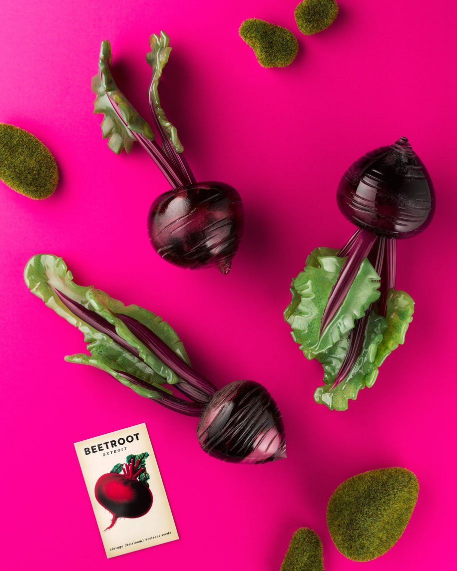 Glass-beetroots