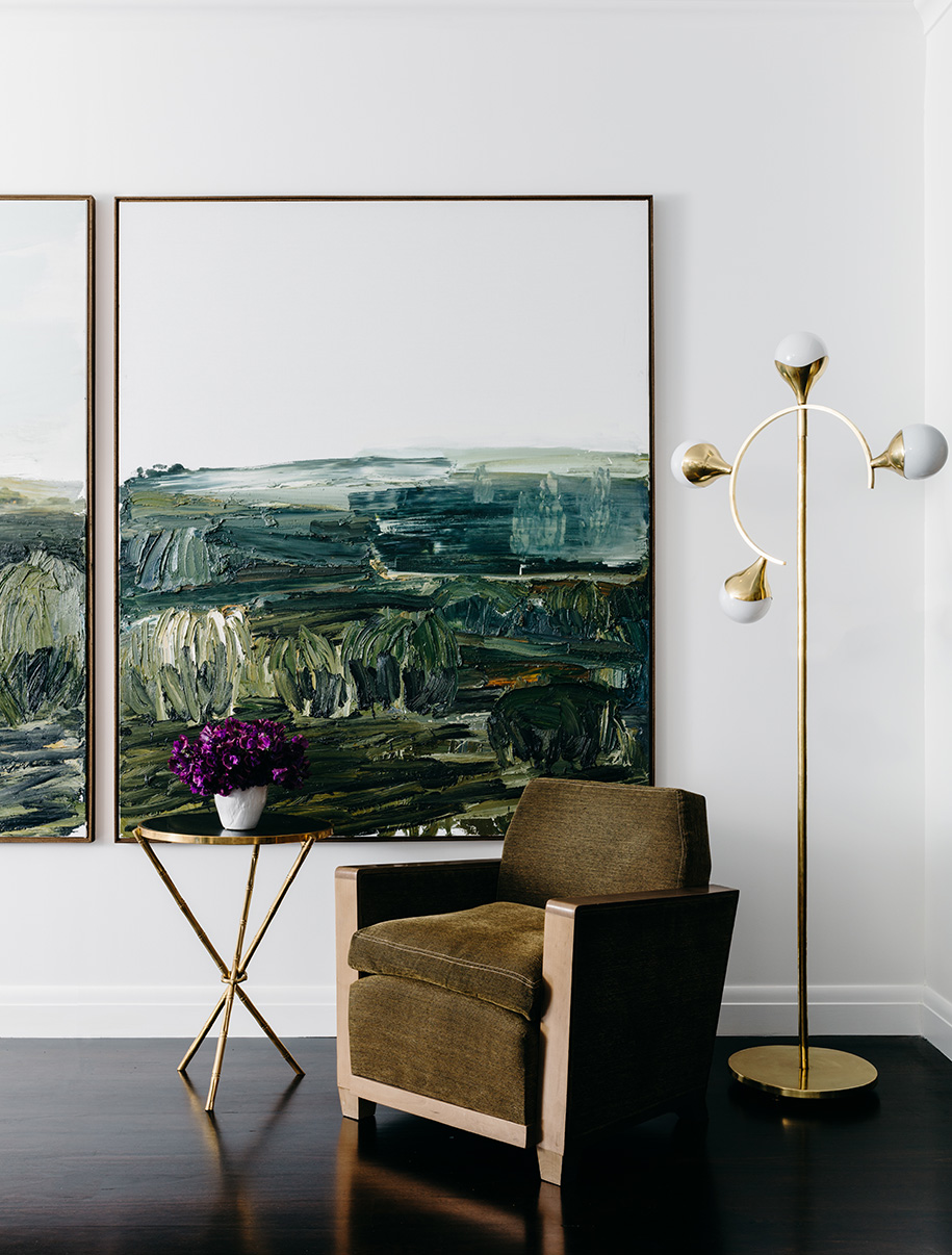 Golf-House_From-left-to-right_-'No-Man's-Land'-by-Guy-Maestri-from-Olsen-Irwin,-Woollahra,-Brass-standard-lamp-from-Conley-and-Co,-Chair-from-the-Country-Trader