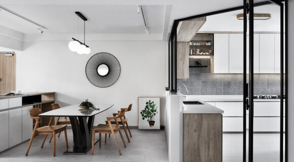 A Minimalist Apartment With A Japanese Influence