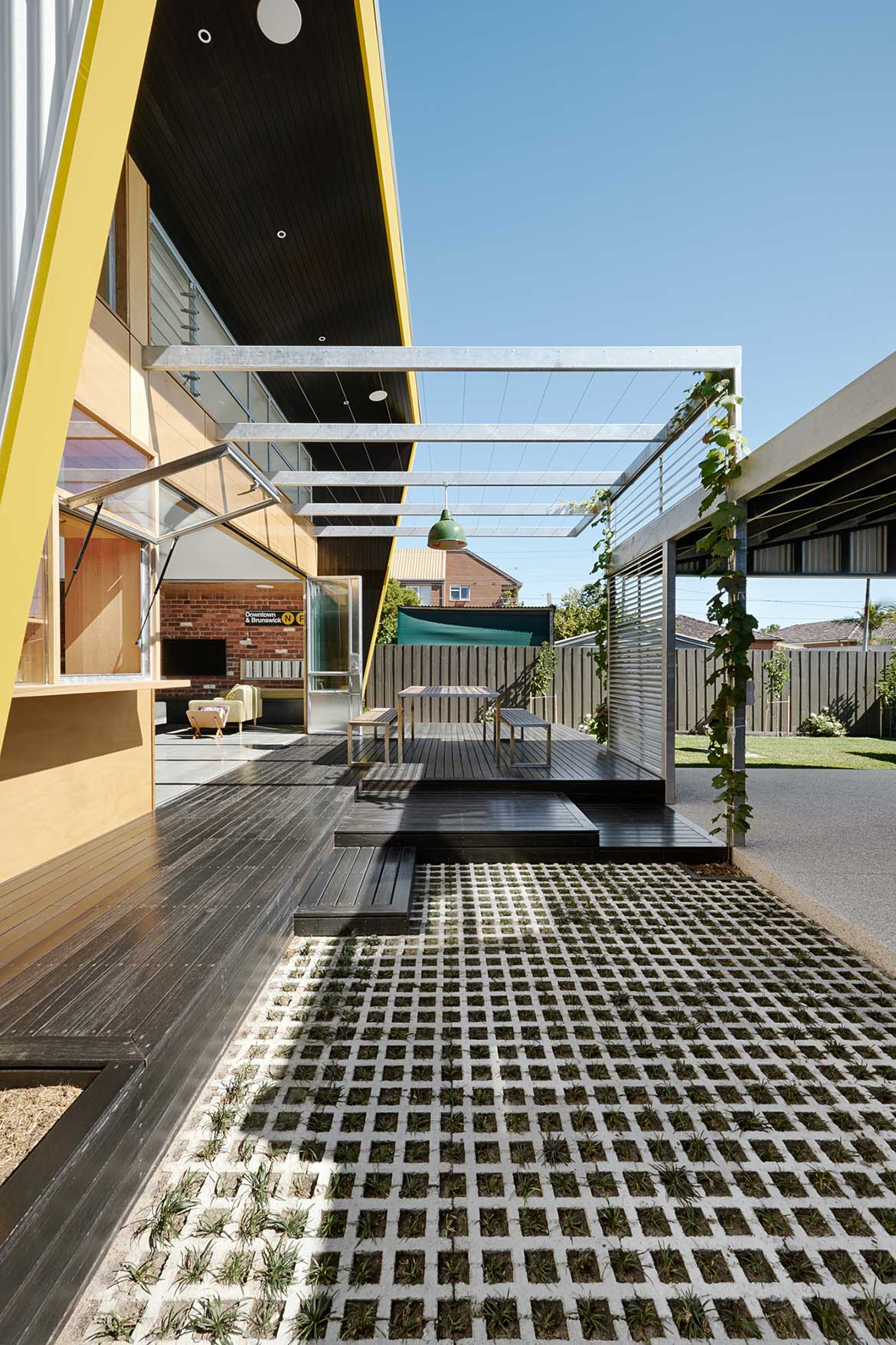 Habitus Living Laneway House Zen Architects veranda