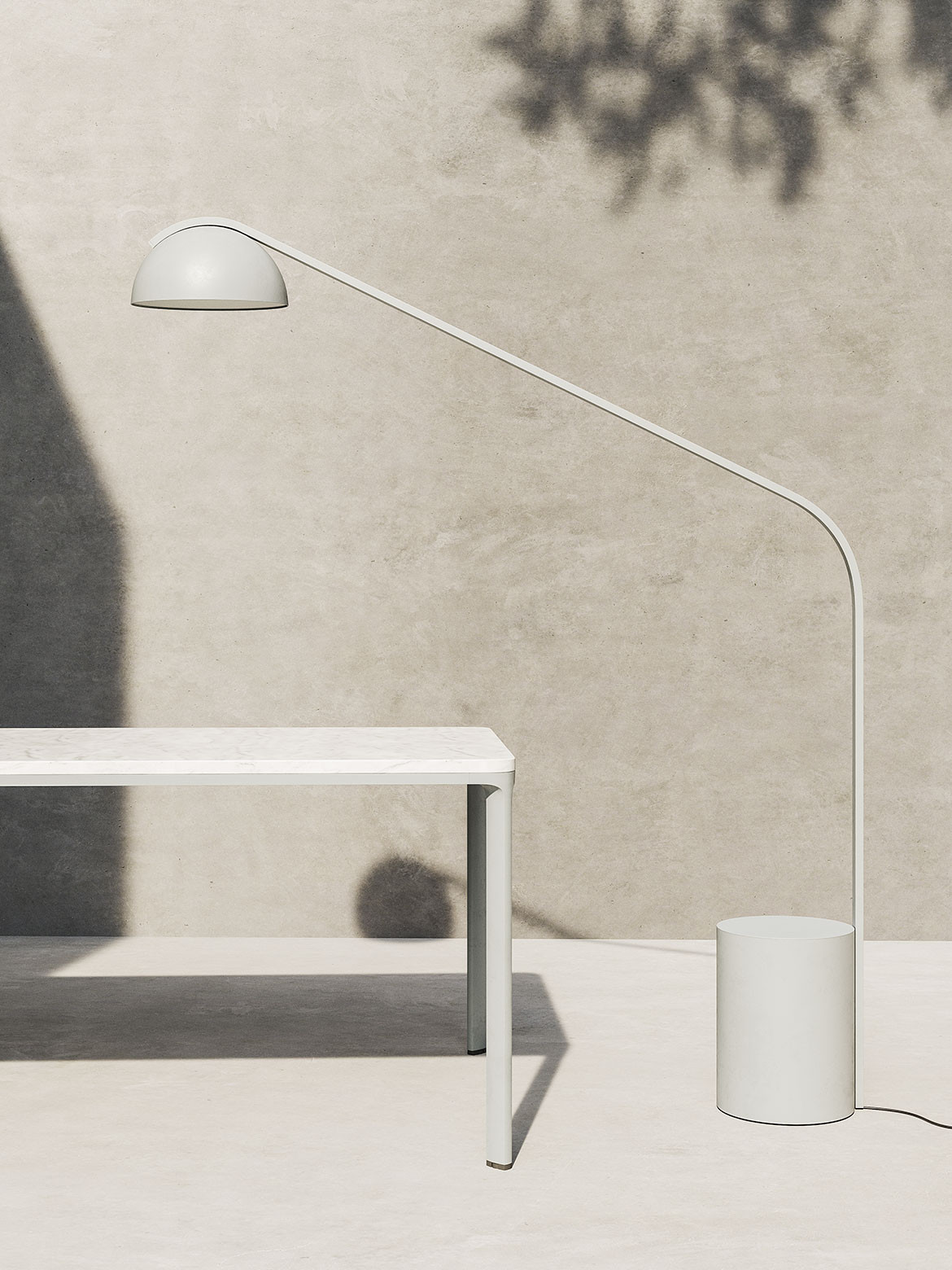 Designed by Japanese product designer Naoto Fukasawa for Kettal, the Half Dome Lamp is inspired by the moon.