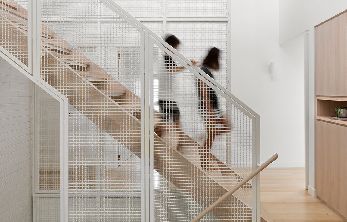 Halo House Breathe Architecture cc Dianna Snape wire mesh staircase