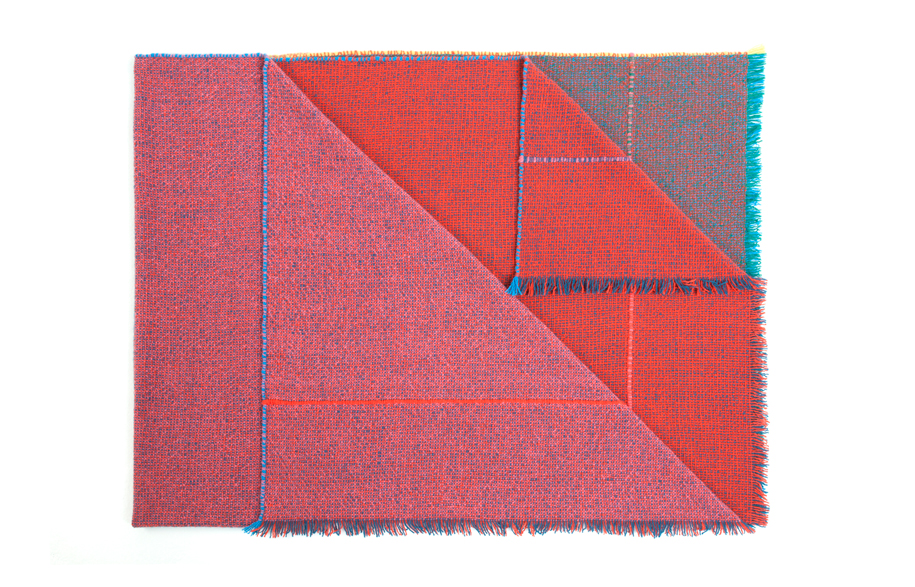 Handwoven-Quaternio-Throw---Red