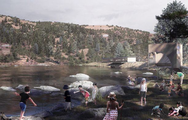 Hassell's design solution involves creating new green spaces along the creek line.