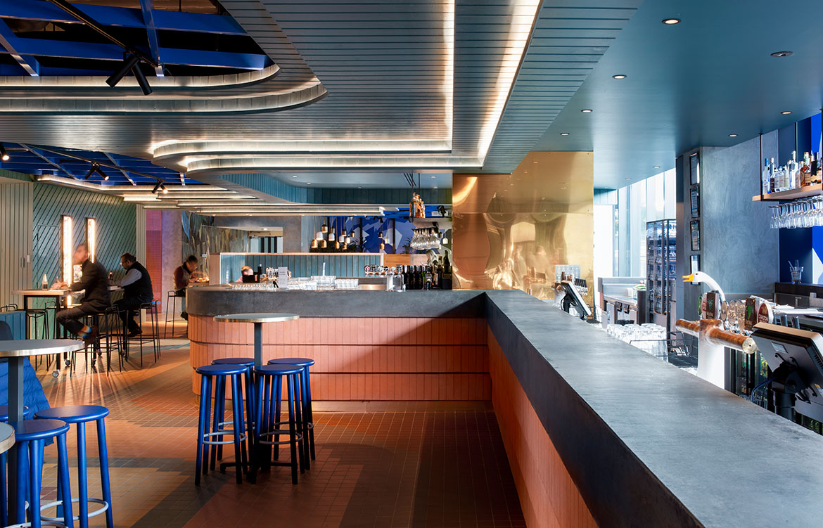 Hightail Bar Docklands Techne Nick Travers bar seating