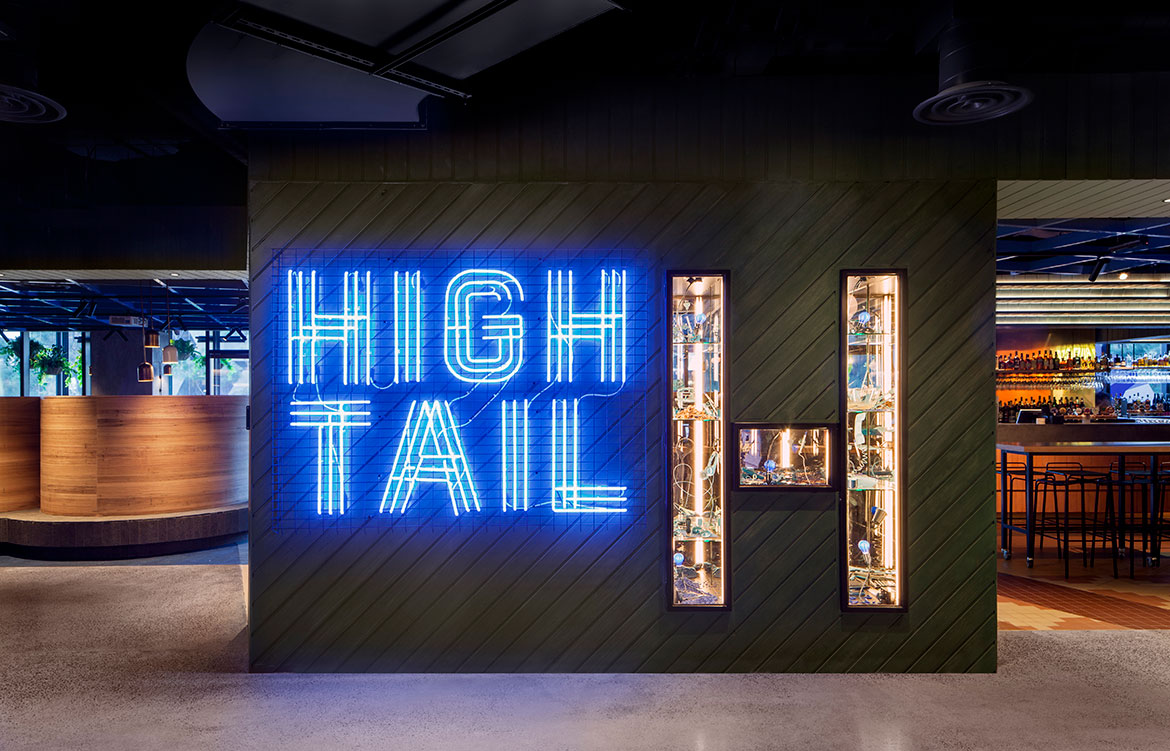 Hightail Bar Docklands Techne Nick Travers signage