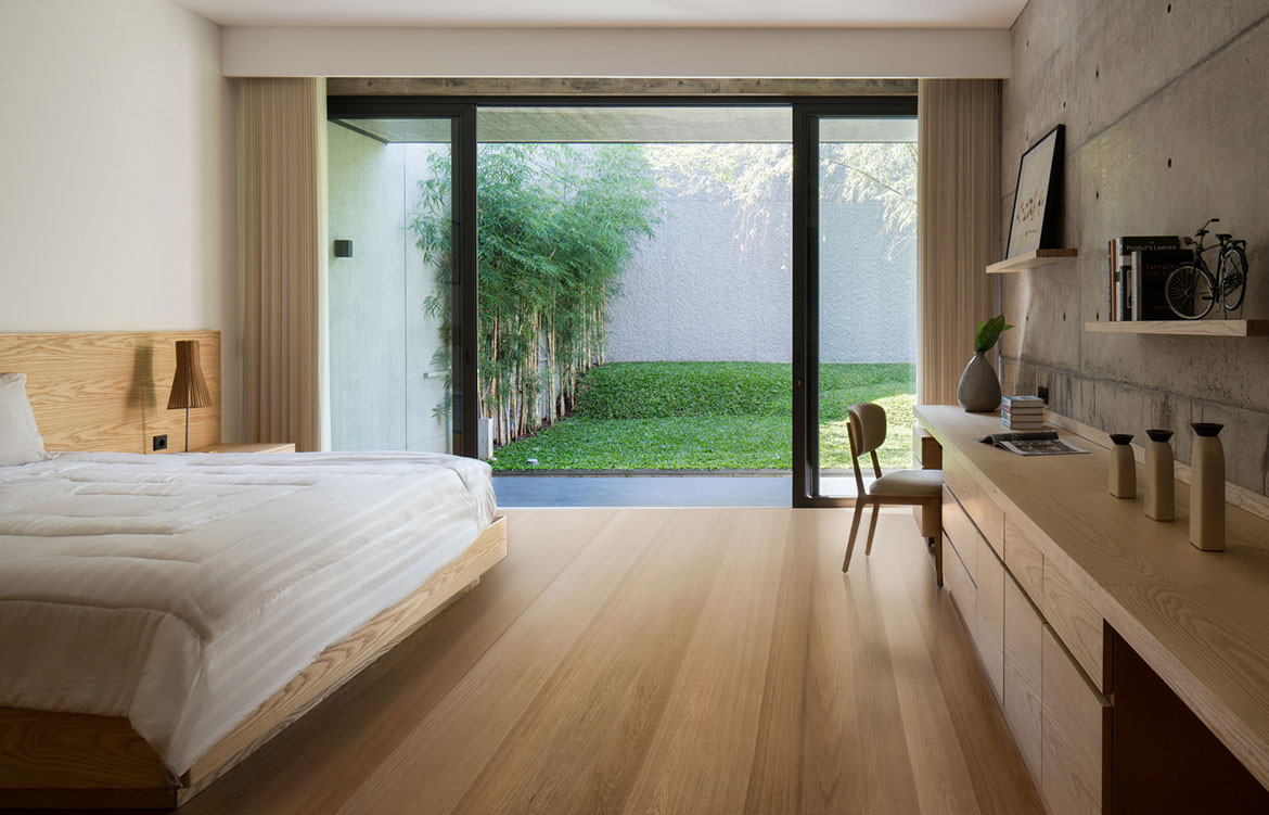 Hikari House Pranala Architects cc Mario Wibowo bedroom
