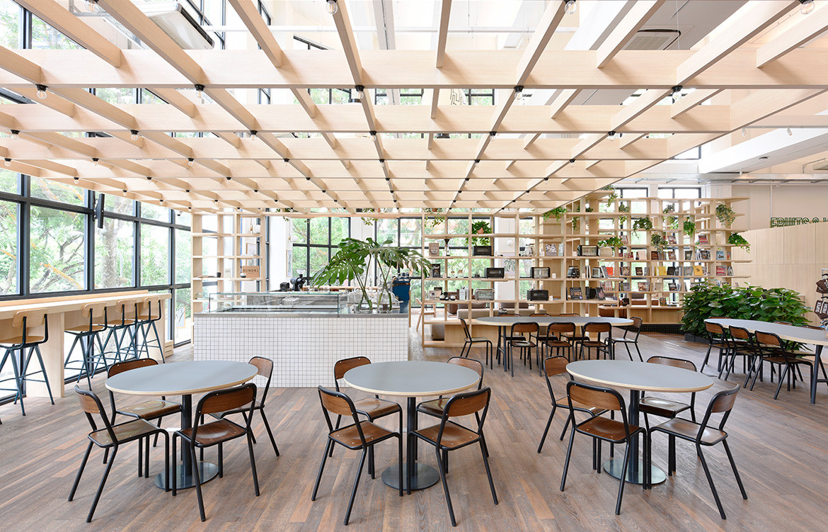 Honestbee Habitat Wynk Collaborative Singapore ceiling detail and natural light