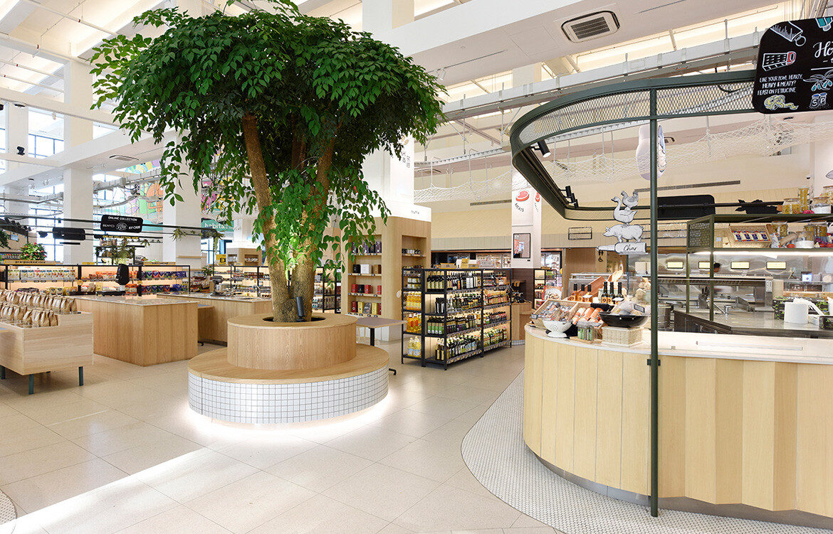 Honestbee Habitat Wynk Collaborative Singapore grocery section and greenery