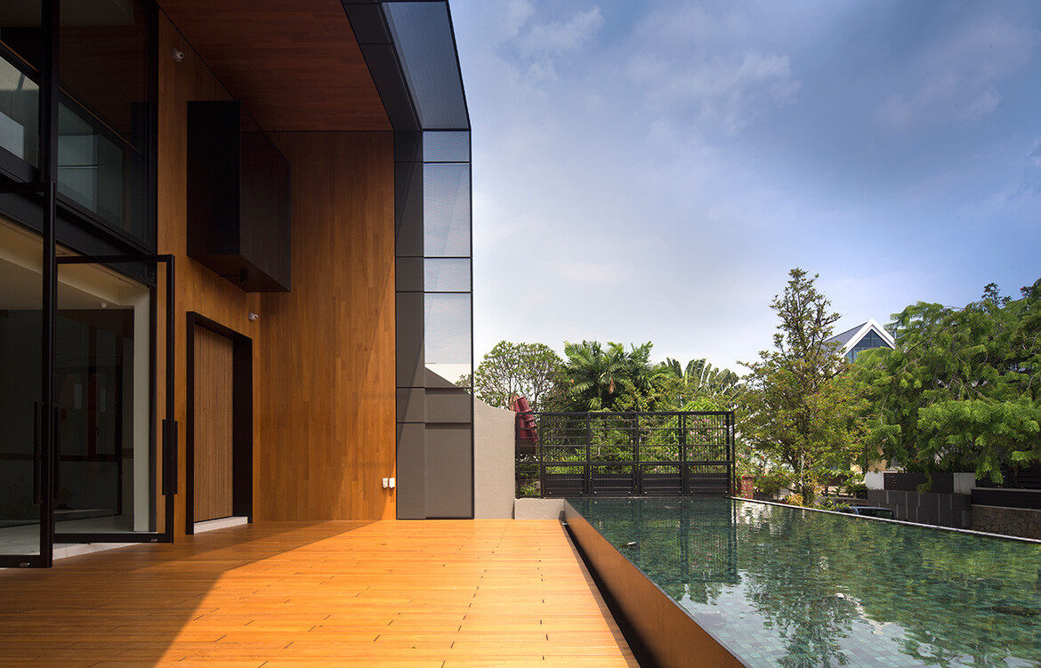 House with Loggia RT+Q Architects CC Albert Lim exterior deck pool
