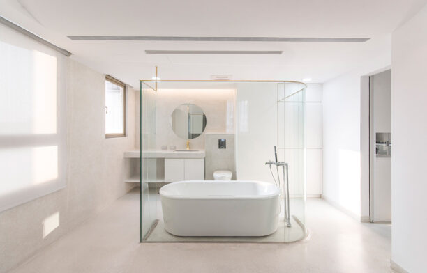 Bathroom Design Inspiration | House with Terrazzo by Opsace Architects
