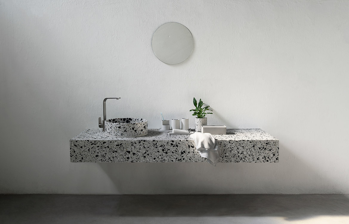 Habitus Loves... Solid Surfaces Hui Terrazzo Basin