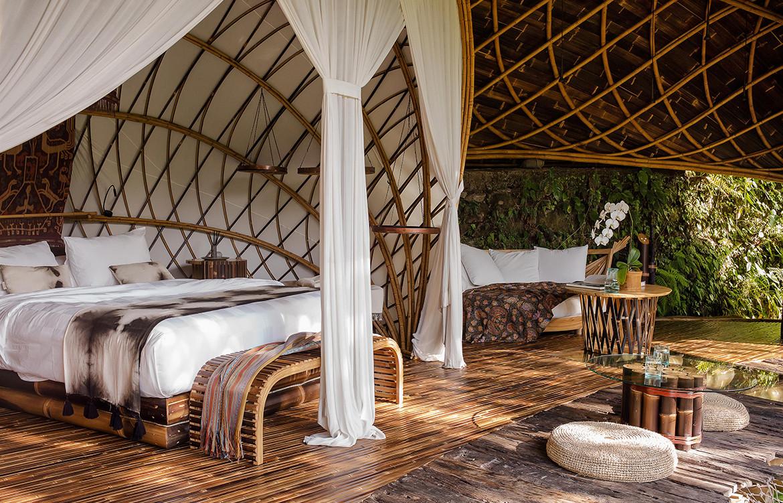 IBUKU Bali Moon House Bamboo bedroom