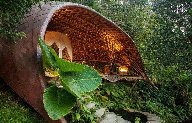 IBUKU Bali Moon House Bamboo opening