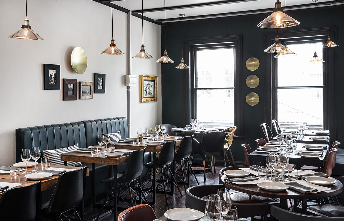 ISH Restaurant Melbourne Annu Bain CC Rhiannon Taylor fine dining interior with brass highlight colours
