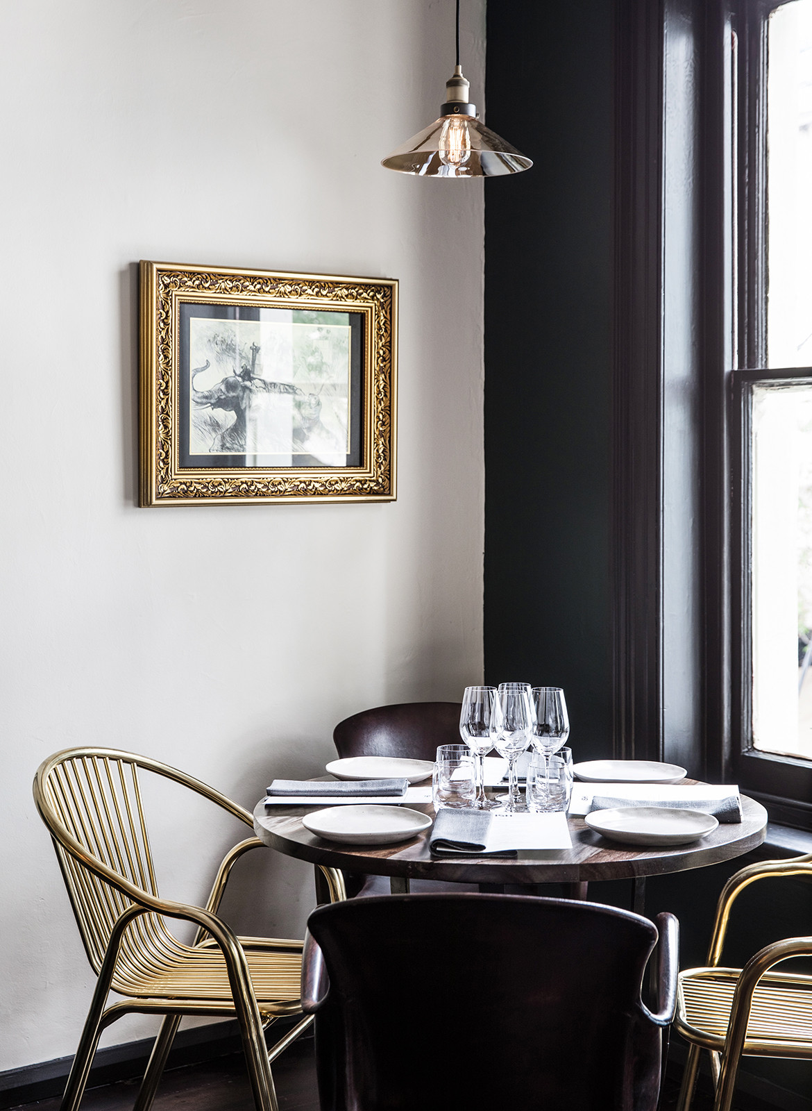 ISH Restaurant Melbourne Annu Bain CC Rhiannon Taylor fine dining highlight colours brass