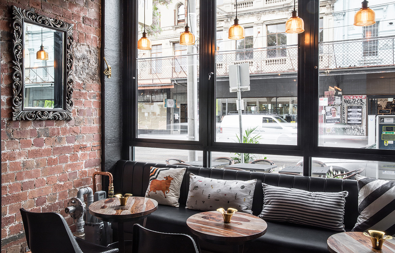 ISH Restaurant Melbourne Annu Bain CC Rhiannon Taylor sofa lougne casual seating dining