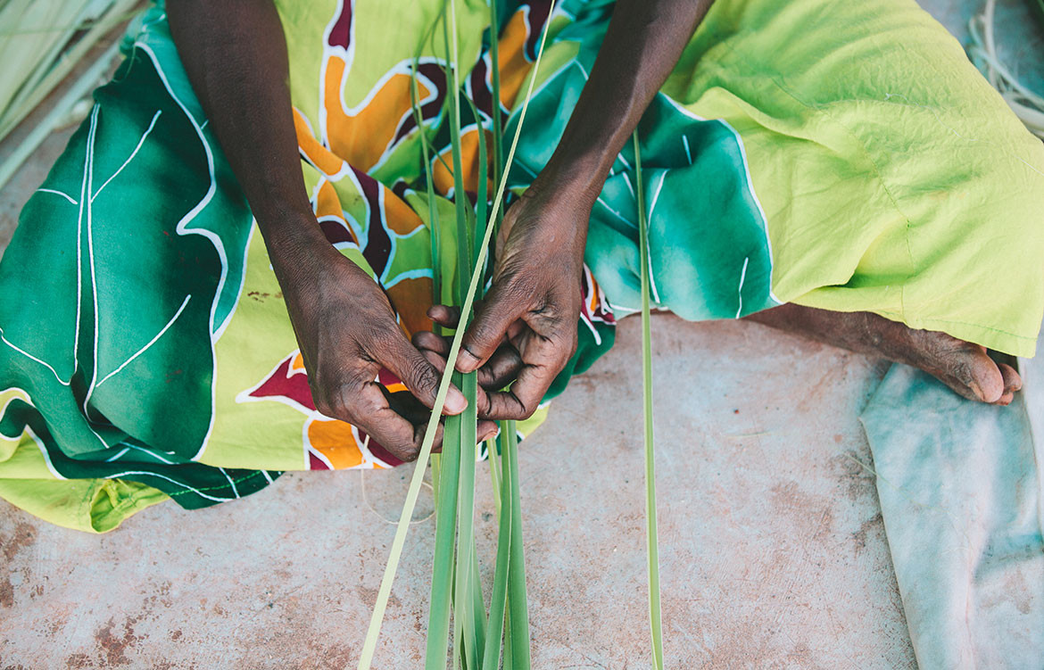 Indigenous Collaborations Koskela Elcho Island Arts art weaving