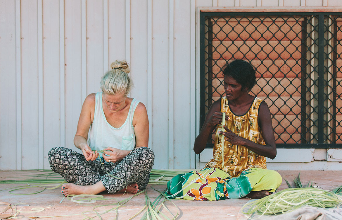 Indigenous Collaborations Koskela Elcho Island Arts weaving