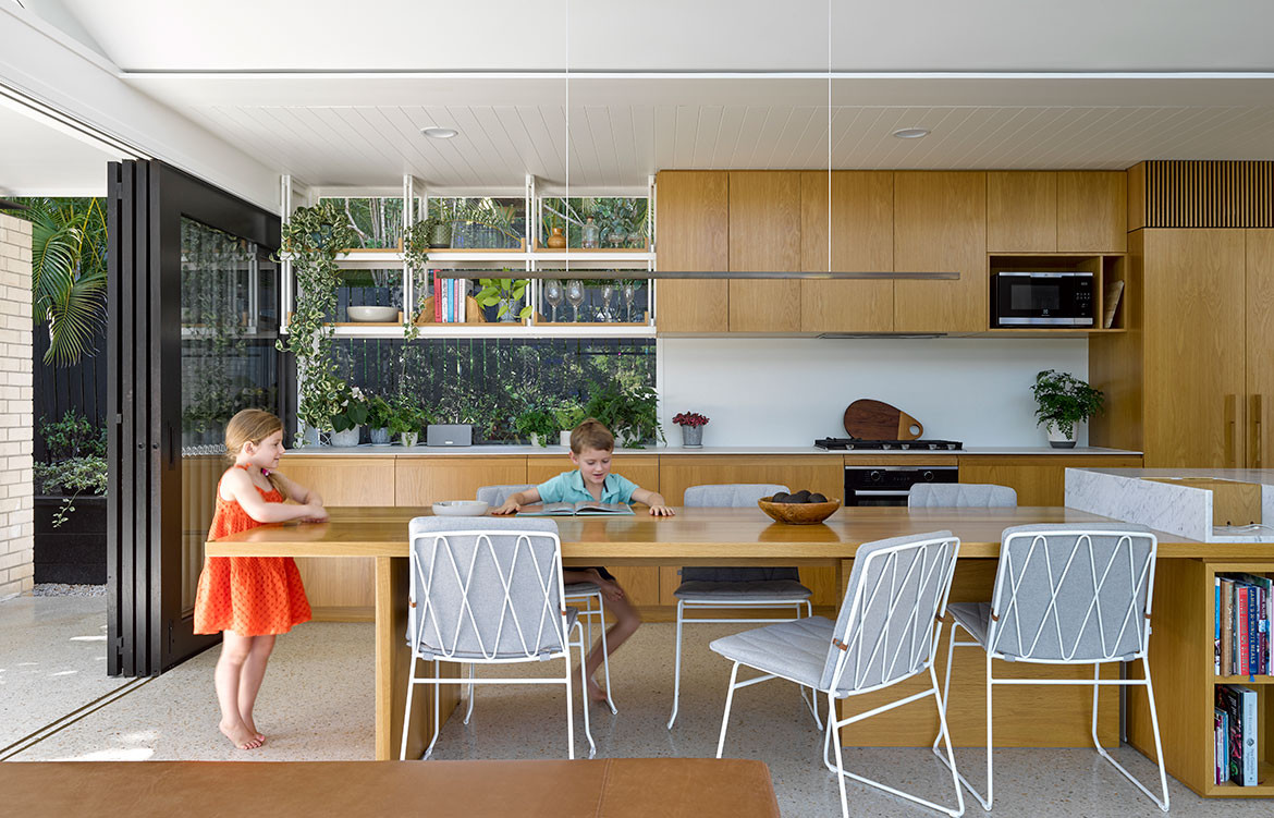 Jacaranda House Ashgrovian Queenslander SP Studio CC Christopher Frederick Jones open dining
