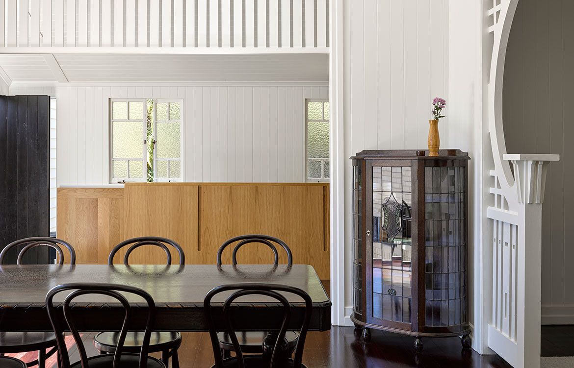 Jacaranda House Ashgrovian Queenslander SP Studio CC Christopher Frederick Jones formal dining